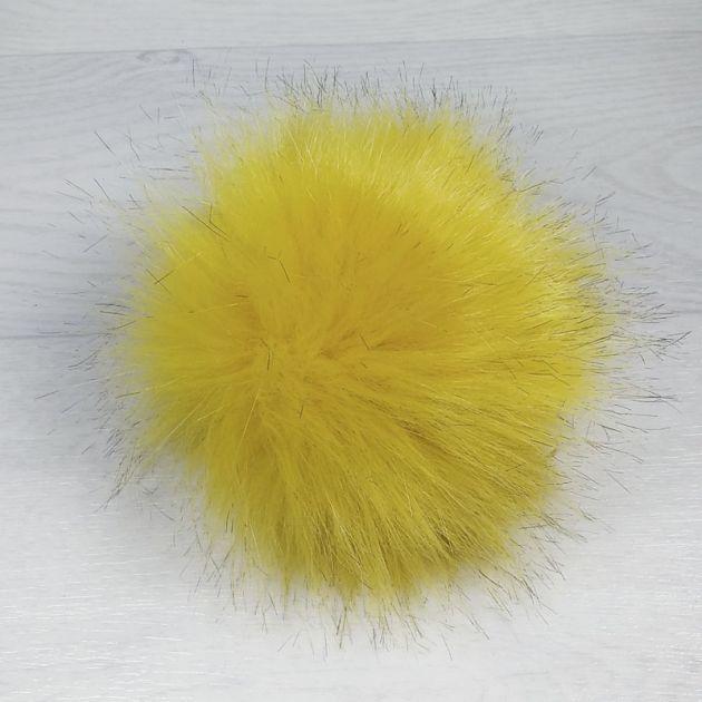 пом1000-11 Помпон из искуственного меха горчица