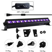AC100-240V 27W 9 светодиодов УФ-бар Свет Черная лампа
