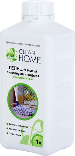 Clean Home Гель для мытья линолеума и кафеля универсальный 1 л