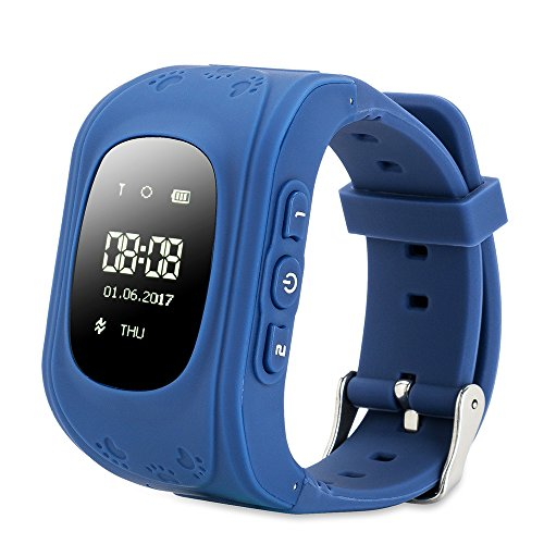 Умные Детские Часы С GPS Smart Baby Watch Q50, Цвет Синий