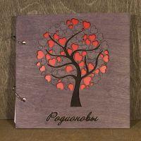 книга пожеланий круглое дерево с сердечками