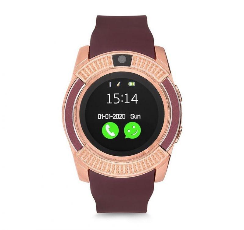 Умные часы Smart watch V8, цвет золотистый