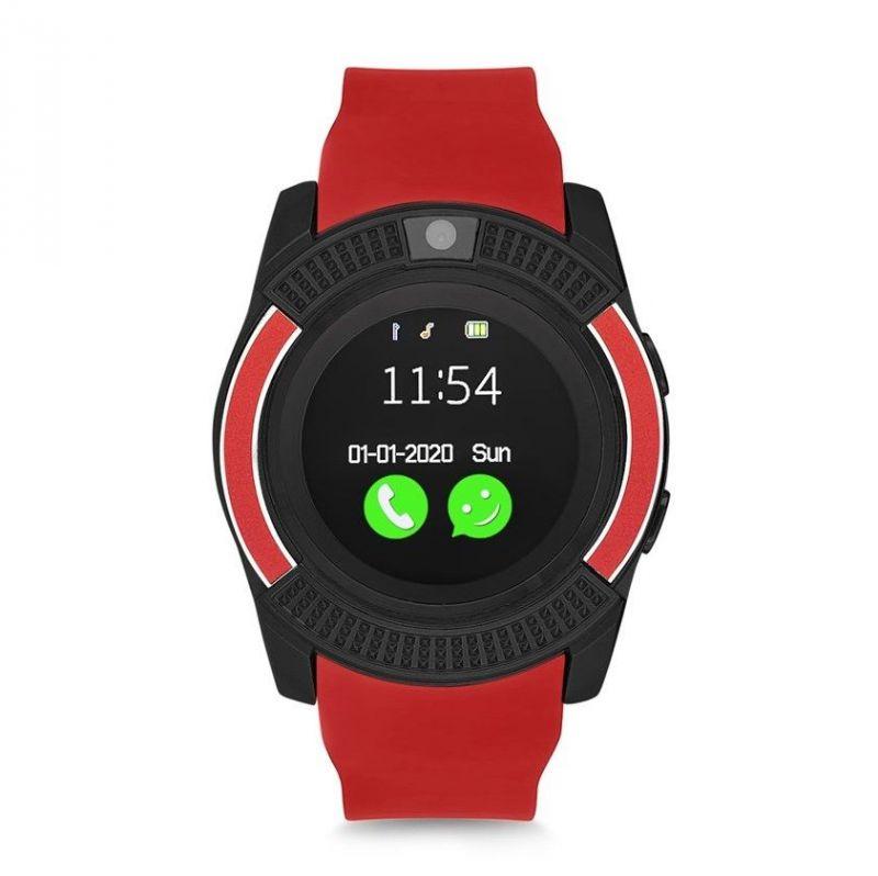 Умные часы Smart watch V8, цвет красный