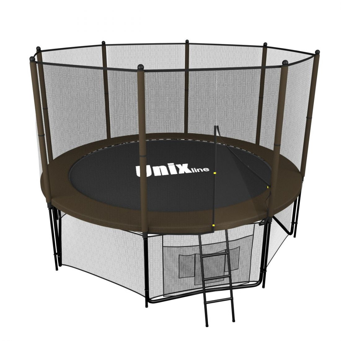 Батут UNIX line 8 ft (2.44 м, до 150 кг) Black&Brown (outside)