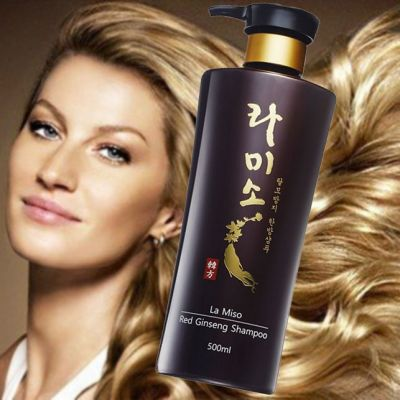 Шампунь  для волос La miso с экстрактом красного женьшеня, 500мл.