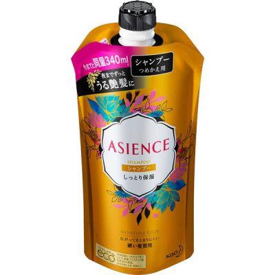 Kao Asience Moisture Rich Шампунь для волос увлажняющий с медом и протеином жемчуга с фруктово-цветочном ароматом 340 мл запасной блок
