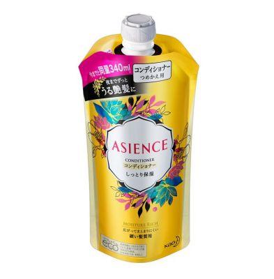 Kao Asience Moisture Rich Кондиционер для волос увлажняющий с медом и протеином жемчуга с фруктово-цветочным ароматом 340 мл запасной блок