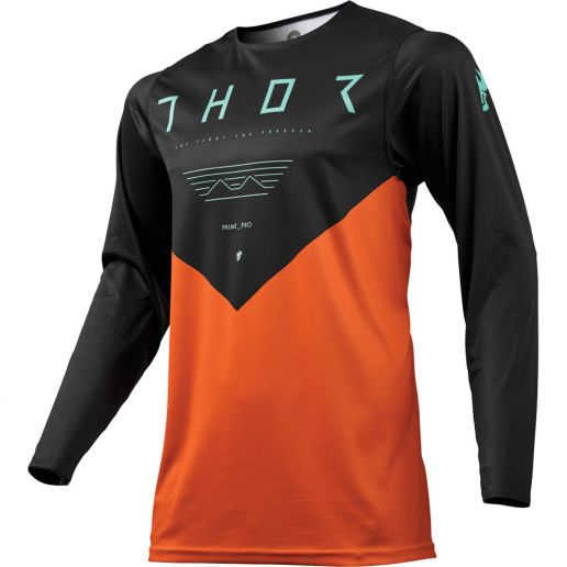 Thor - 2019 Prime Pro Jet Black/Orange джерси, черно-оранжевое