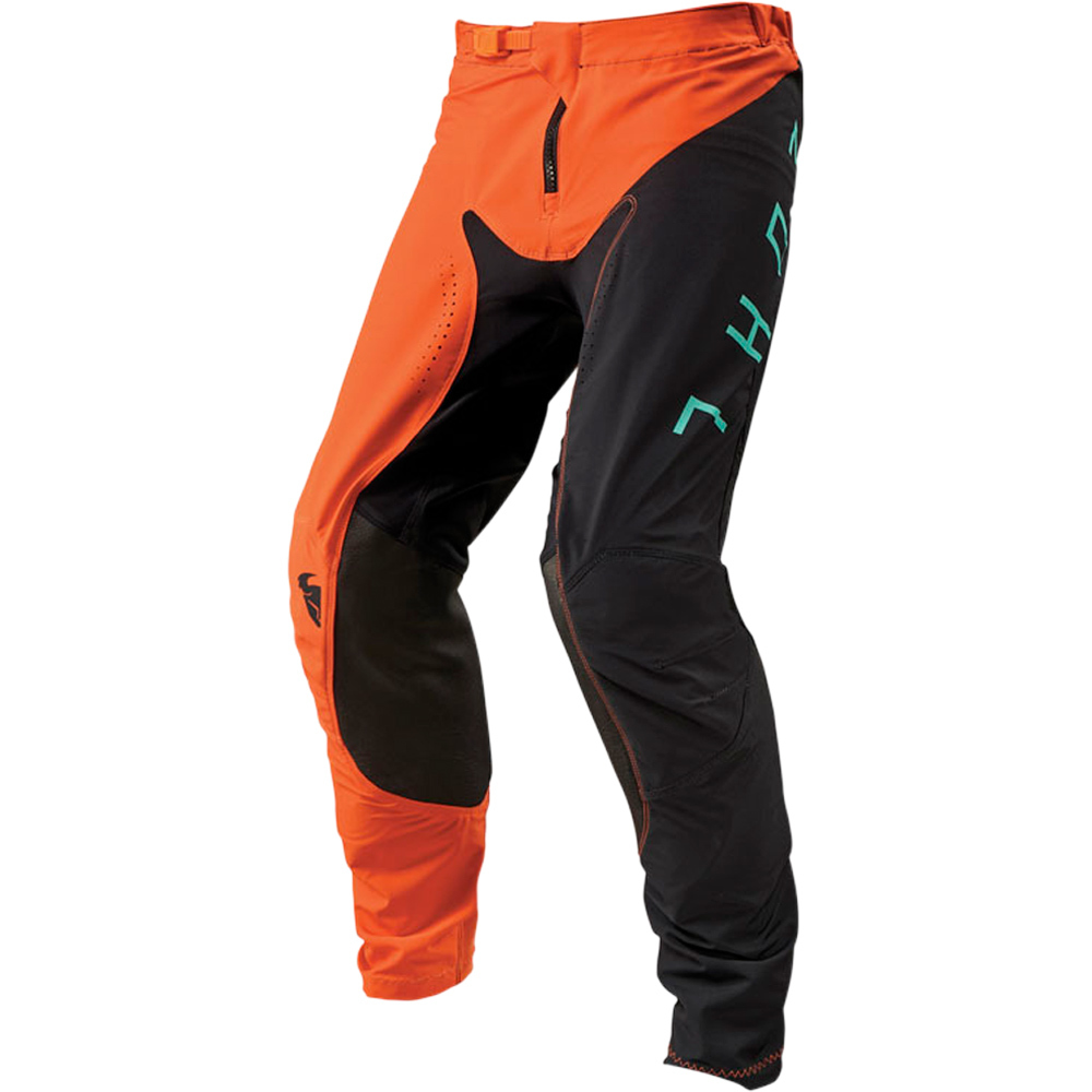 Thor - 2019 Prime Pro Jet Black/Orange штаны, черно-оранжевые
