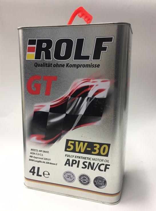 Масло моторное Rolf GT 5W30 4л 322416
