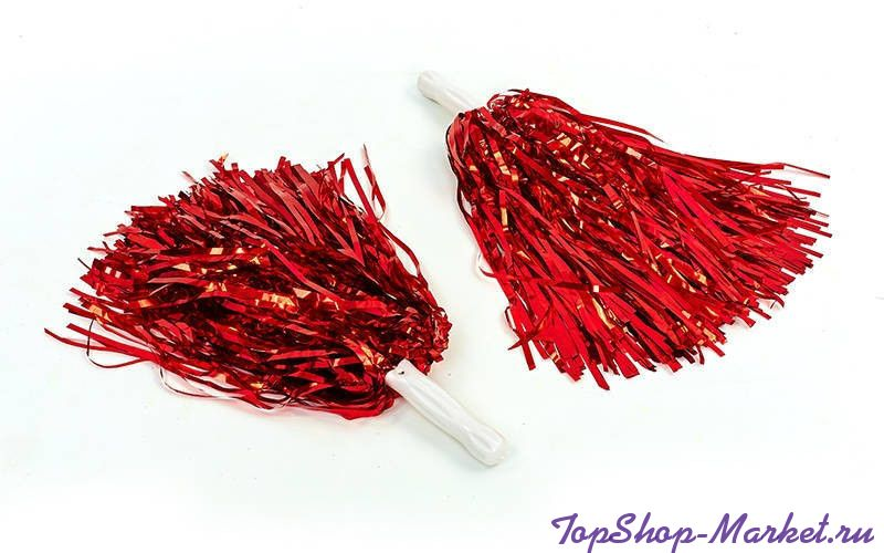 Помпоны для черлидинга и танцев Pom Poms, Цвет: Красный