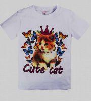 """Футболка детская  """"CUTE CAT"""" 8-12 лет №BN352"""