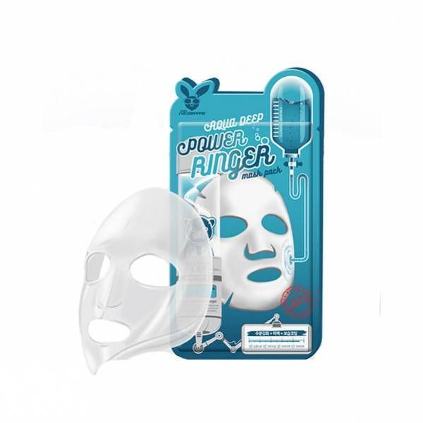 [Elizavecca] НАБОР/Тканевая маска д/лица Увлажняющая AQUA  DEEP POWER Ringer mask pack, 10 шт