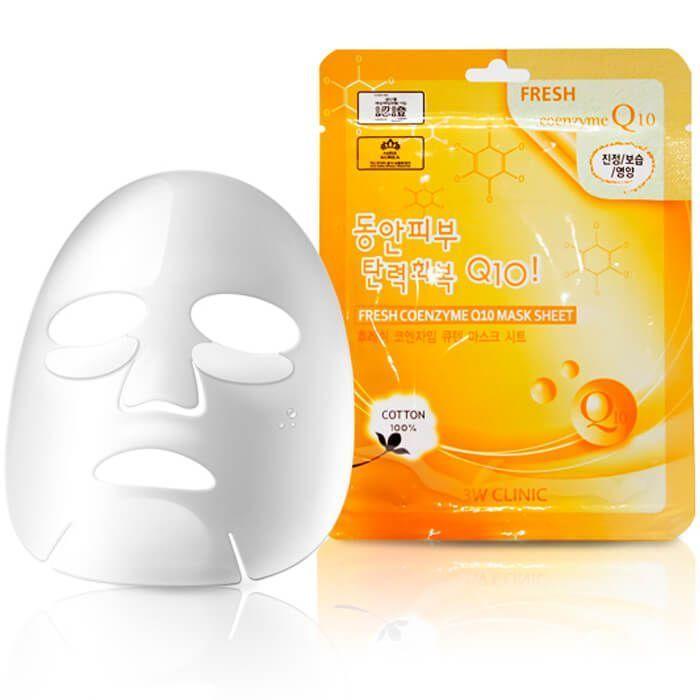 "[3W CLINIC] Тканевая маска для лица КОЭНЗИМ ""Fresh Coenzyme Q 10 Mask Sheet"""