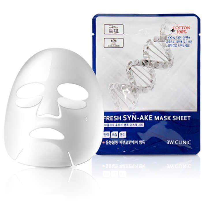"""[3W CLINIC] Тканевая маска для лица ЗМЕИНЫЙ ПЕПТИД """"Fresh Syn-ake Mask Sheet"""""""
