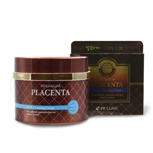 [3W CLINIC] Очищающий крем для лица Premium Placenta Deep Cleansing Cream, 300 мл