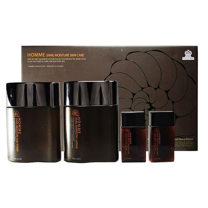 [3W CLINIC] Набор для мужчин-комплексный уход Snail 2- Step Kit Basic Skin Care