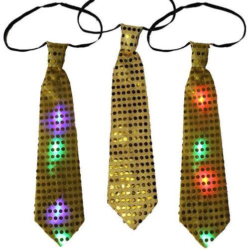 Светящийся карнавальный галстук, желтый