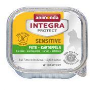 Animonda Integra конс. Sensitive c индейкой и картофелем д/кошек при пищувой аллергии, 100г