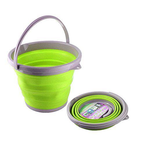 Ведро Складное Силиконовое Folding Bucket, Цвет Зеленый