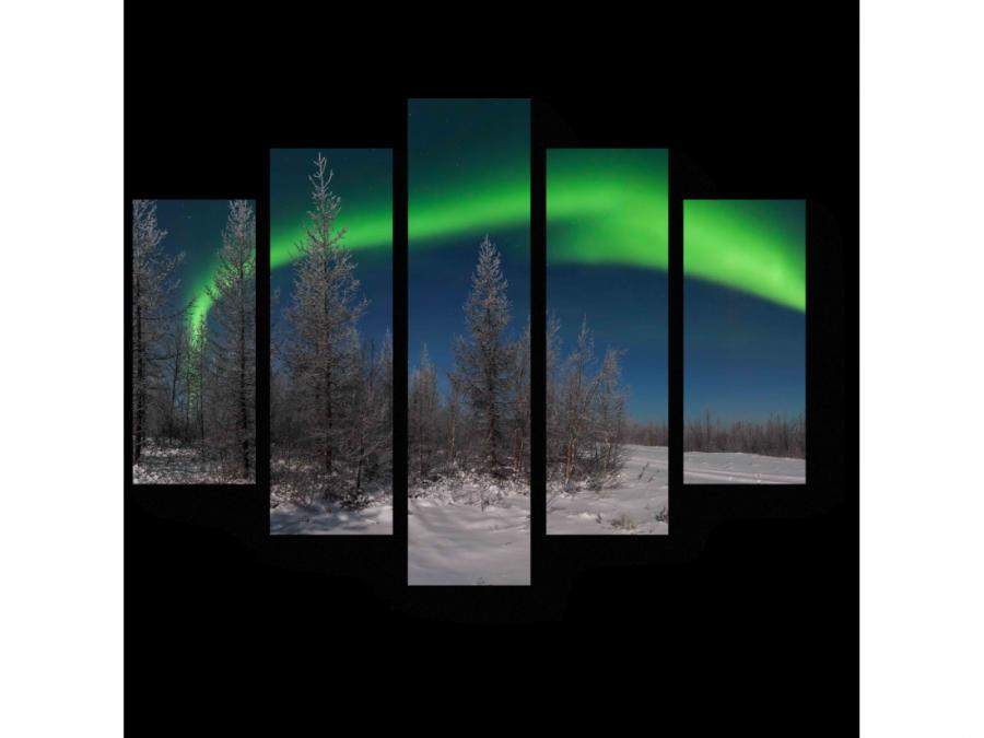Модульная картина Северное сияние
