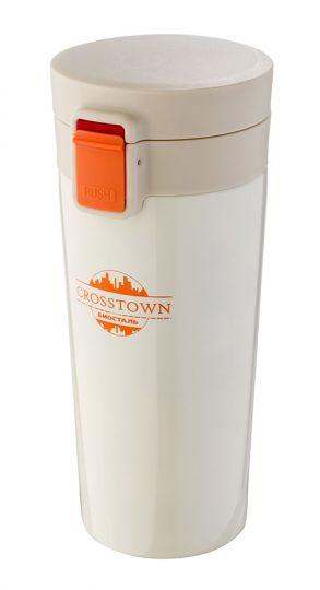 Термокружка Biostal NMT-400W CROSSTOWN шампань 0,4 л