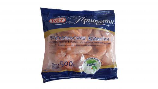 Креветки Королевские Vici в панцире с головой варено-мороженные с пряностями 30/40 500гр
