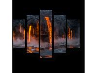 Модульная картина Вулкан