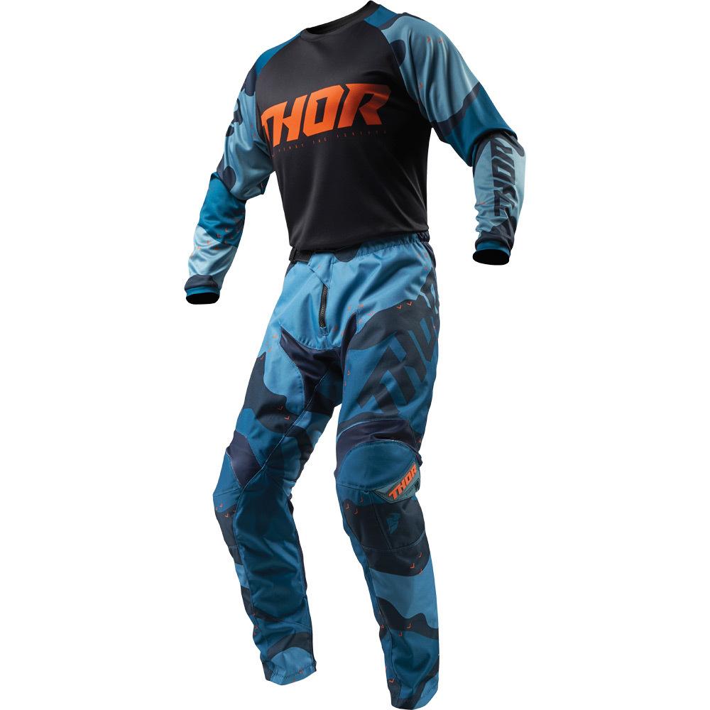 Thor - 2019 Sector Camo Blue комплект джерси и штаны, синий