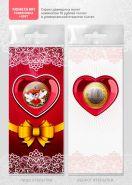 ВАЛЕНТИНКА 10р Сердце №1, цветная, гравировка + ОТКРЫТКА