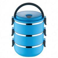 Термо ланч-бокс из нержавеющей стали, 2,1 л, Цвет: Голубой
