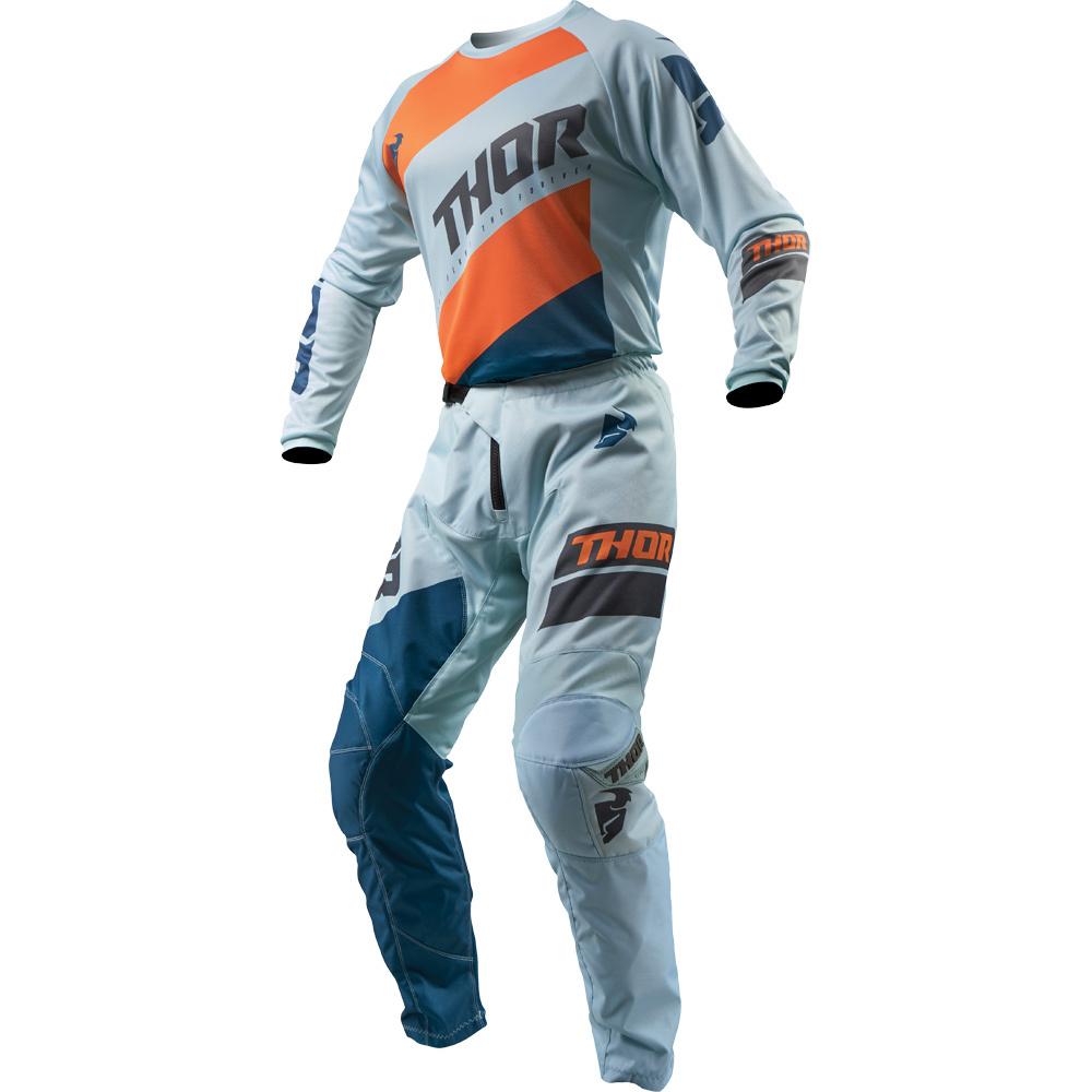 Thor - 2019 Sector Shear Sky/Slate комплект джерси и штаны, оранжево-синий