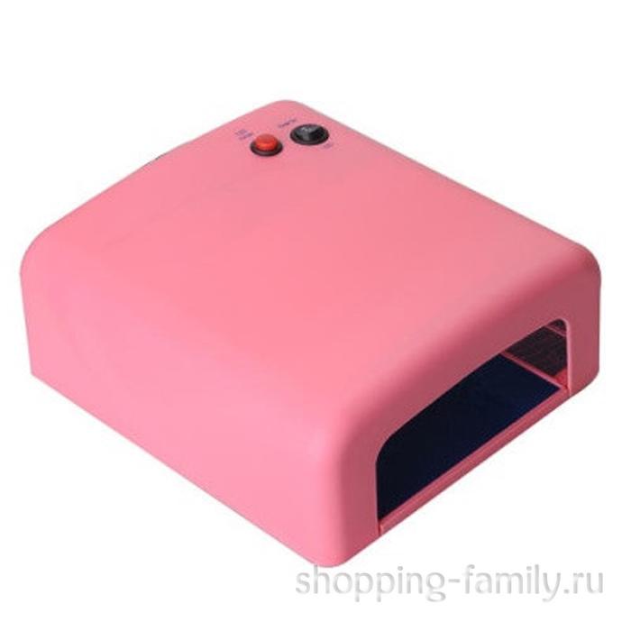 Ультрафиолетовая лампа Junhao 36W JH-818, цвет розовый