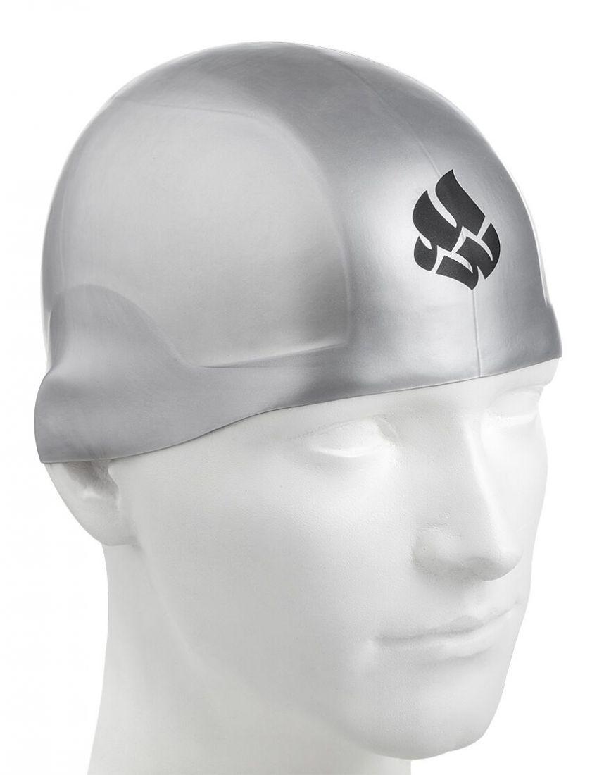 Шапочка для плавания силиконовая Mad Wave R-CAP FINA Approved (серебро)