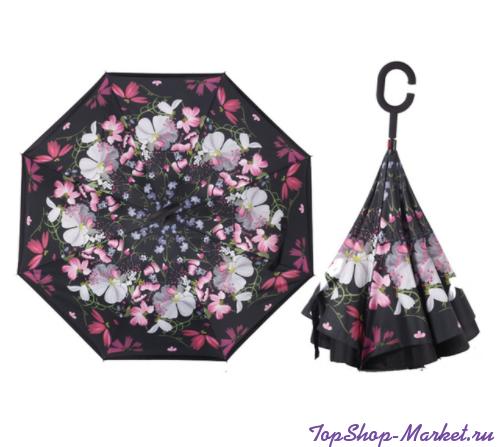 Зонт Наоборот, Рисунок: Фиолетовый однотонный