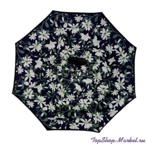 Зонт Наоборот, Рисунок: Чёрный с лилиями