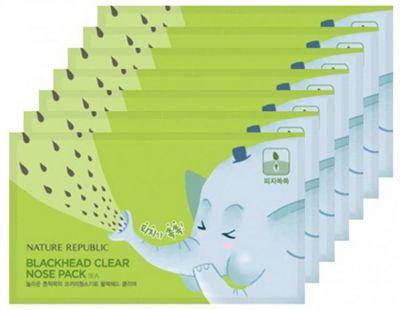 Набор для сужения и очищения пор носа BLACKHEAD CLEAR 3-STEP NOSE PACK(7EA)