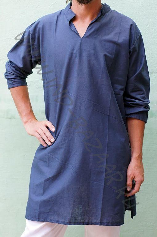 a7b52215e281e63 Купить в интернет магазине Мужская курта, длинная индийская рубашка из  хлопка. Купить в интернет магазине