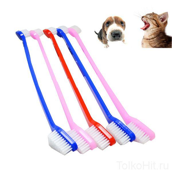 Двусторонняя зубная щётка для собак Luxury Paws, 2 шт