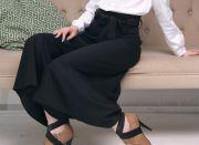 юбка-брюки с пояском-бантом