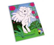 Мягкая аппликация 19х26 см. Сказочный пони (арт. А-8877)