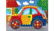 Мозаика из помпонов. формат А5. Машинка (арт. М-5228)