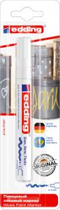 Маркер-краска лаковый глянцевый EDDING 750, 2-4 мм, круглый наконечник, алюминиевый корпус, белый, Е750/49