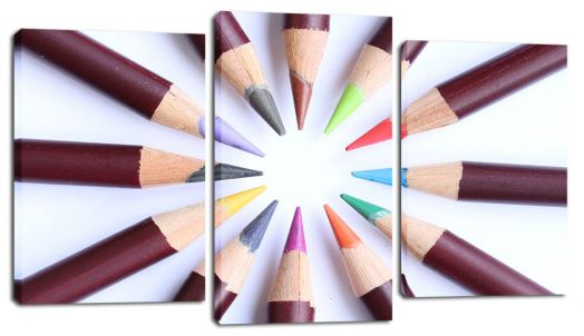 Модульная картина Цветные карандаши