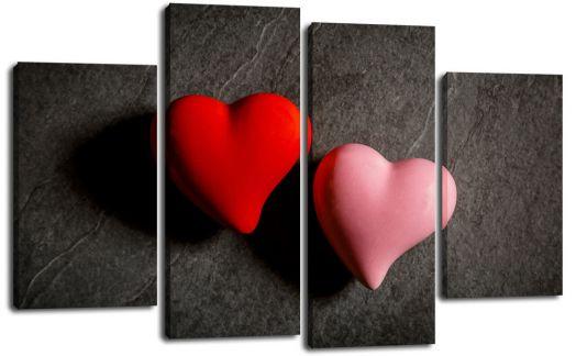 Модульная картина Два сердца