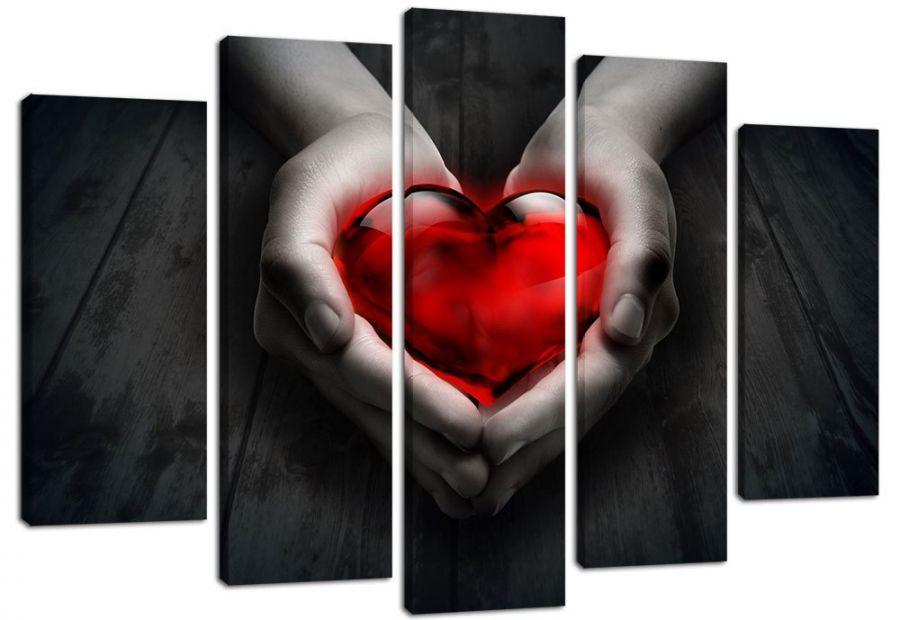 Модульная картина Сердце в руках