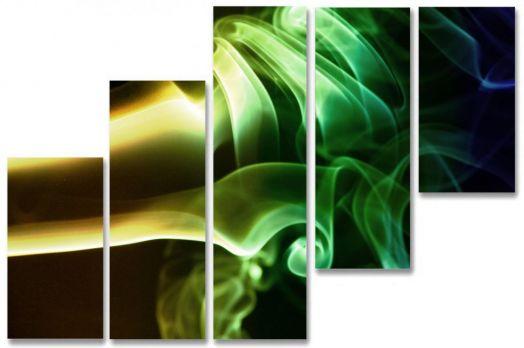 Модульная картина Салатовый смоук
