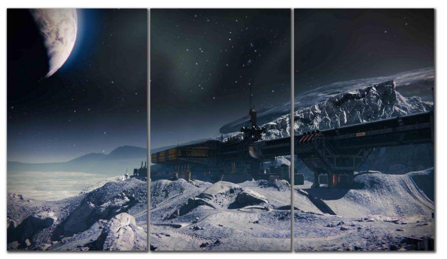 Модульная картина Космическая станция