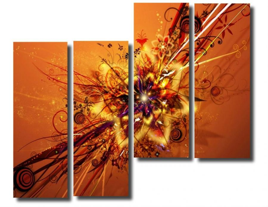 Модульная картина Абстракция цветок