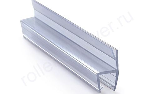 Уплотнитель Ч-образный, раздвоенный для стекла 8 мм в душевой кабине. Длина 2,2 метра